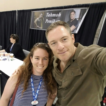 alt=a selfie picture taken with actor Tahmoh Penikett